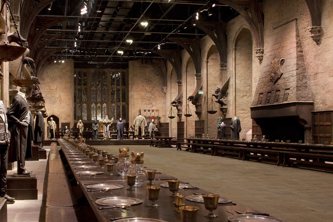 the great hall in Warner Bros. Studio Tour London